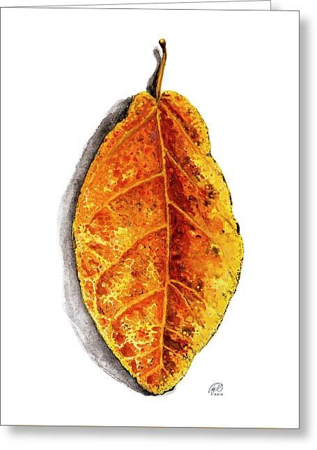 Pop Leaf Yellow Greeting Card by Ryan Irish