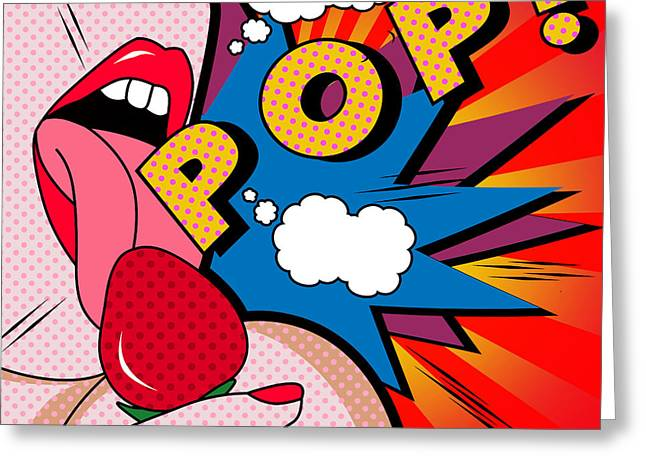 pop Greeting Card by Mark Ashkenazi