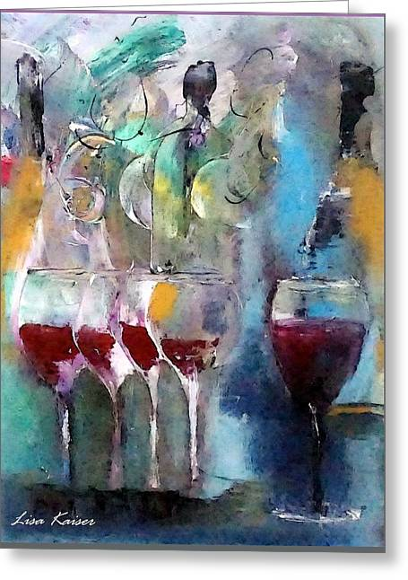 Pop The Cork And Celebrate Greeting Card by Lisa Kaiser