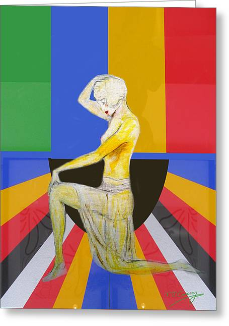 Popart Showgirl 2 Greeting Card by Tom Conway