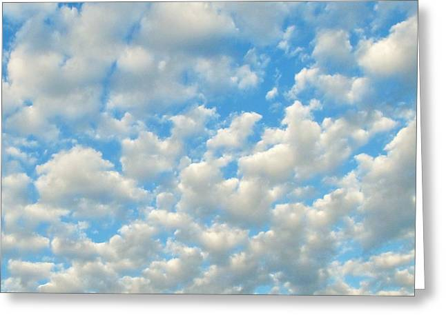 Popcorn Clouds Greeting Card by Marianna Mills