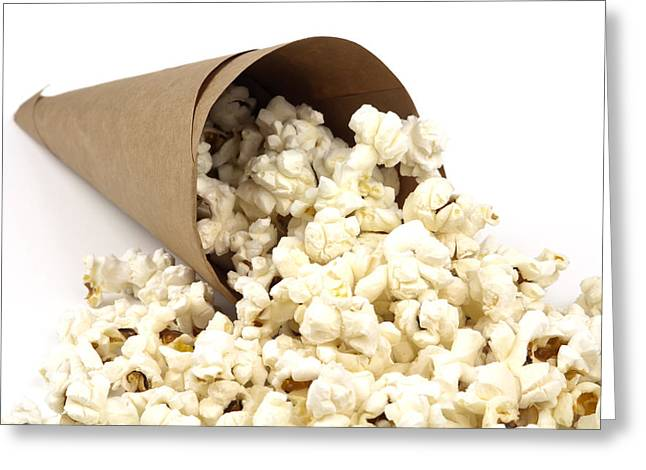 Popcorn In Paper Cone Greeting Card by Blink Images