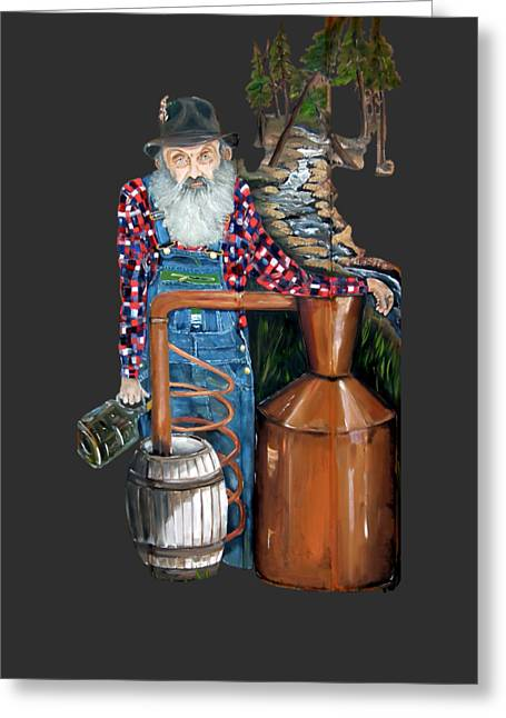 Popcorn Sutton Moonshiner -t-shirt Transparrent Greeting Card