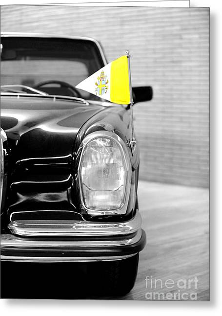 Pope Car In Vatican City Greeting Card by Stefano Senise
