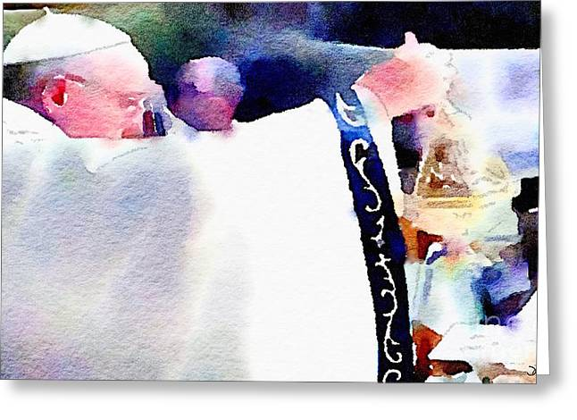 Pope Francis Mass Greeting Card by Denise Haddock
