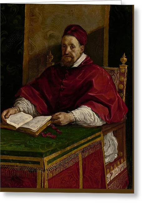 Pope Gregory X V Greeting Card by Guercino
