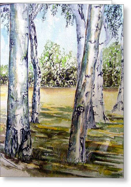 Poplar Tree   Greeting Card by Paul Sandilands