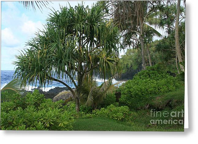 Poponi Maui Hawaii Greeting Card by Sharon Mau
