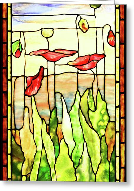 Poppies 1 Greeting Card by Kristin Elmquist