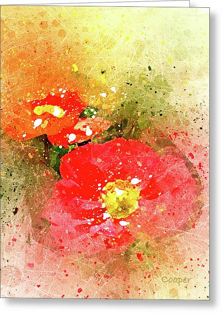 Poppies 5 S Greeting Card