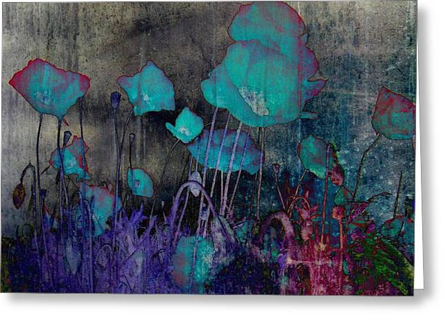 Poppies Abstract Greeting Card