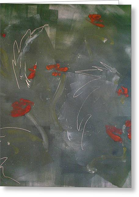 Poppies At Dawn Greeting Card by Caprice Scott