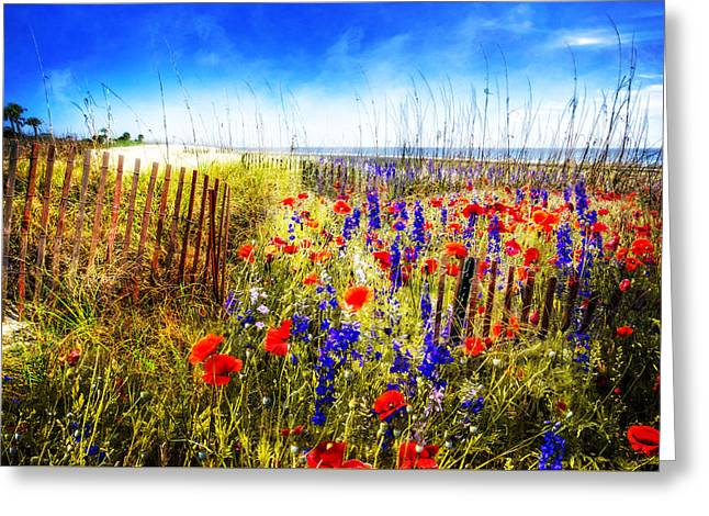 Poppies By The Sea Greeting Card
