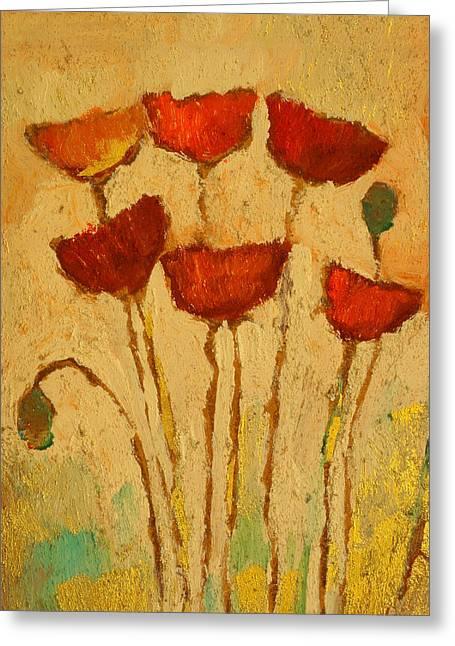 Poppies Decor Greeting Card