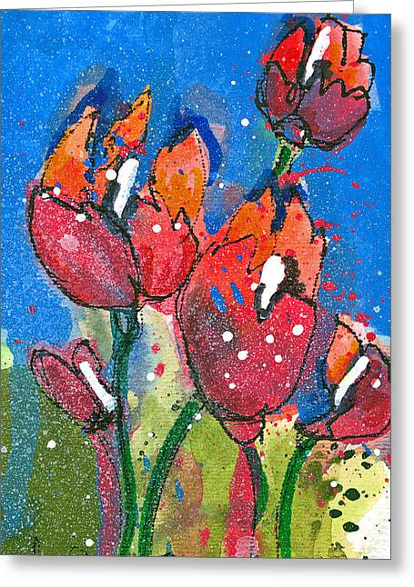 Poppies II Greeting Card