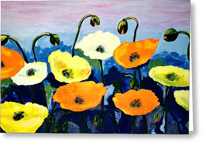 Poppies In Colour Greeting Card