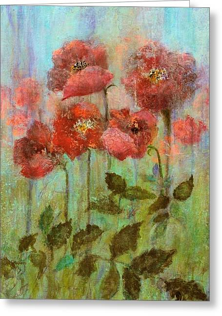 Poppies In Pastel Watercolour Greeting Card