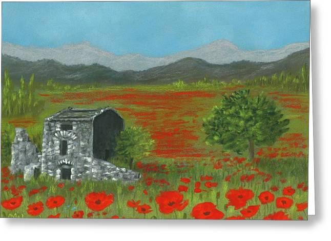 Poppies In Provence  Greeting Card