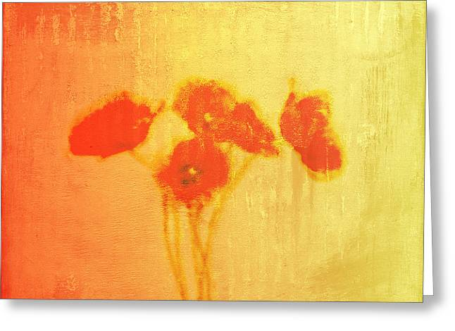 Poppies Greeting Card by Jude Reid