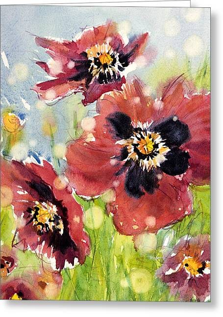 Poppies Greeting Card