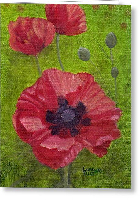 Poppies Greeting Card by Laurel Ellis