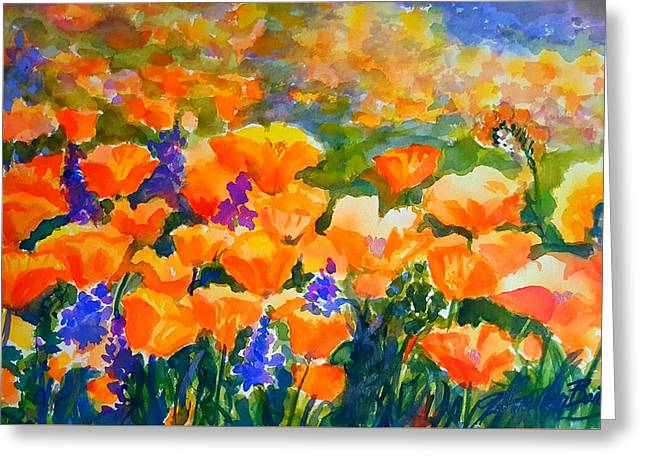 Poppies Like Hansen Greeting Card by Therese Fowler-Bailey