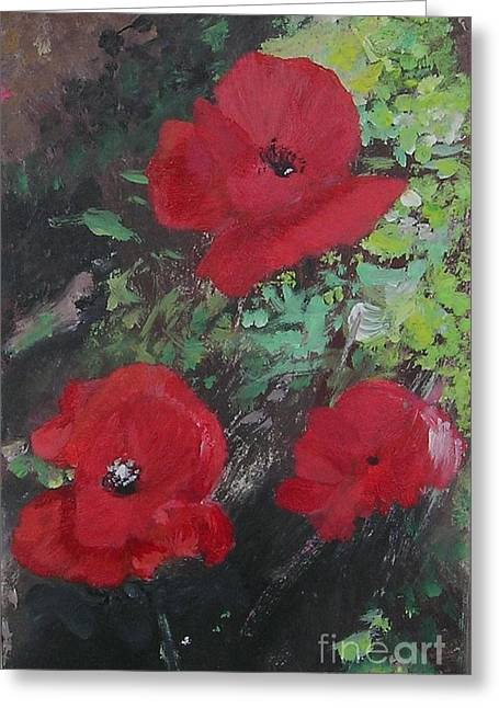 Poppies  Greeting Card by Lizzy Forrester