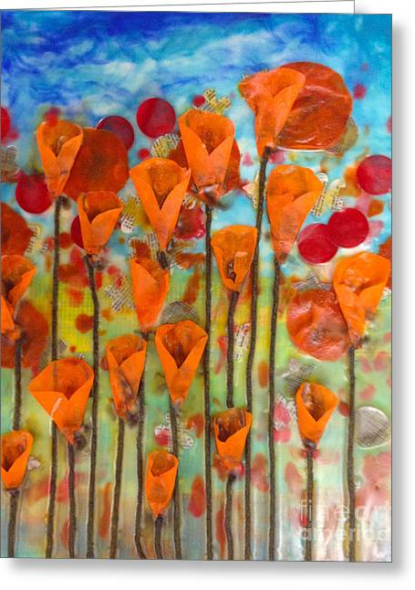 Poppies Make Me Happy Greeting Card