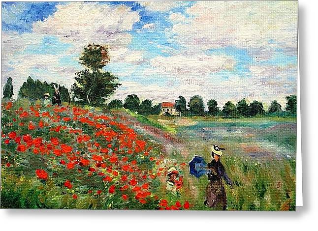 Poppies Near Argenteuil Greeting Card by Peter Kupcik