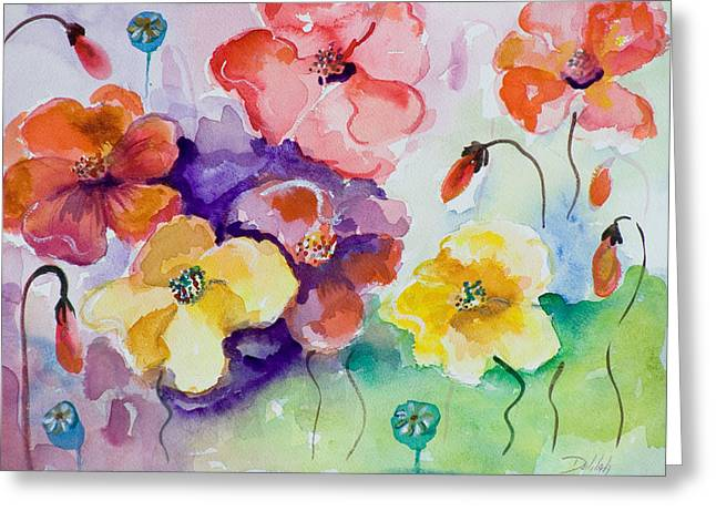 Poppies Of Color Greeting Card by Delilah  Smith
