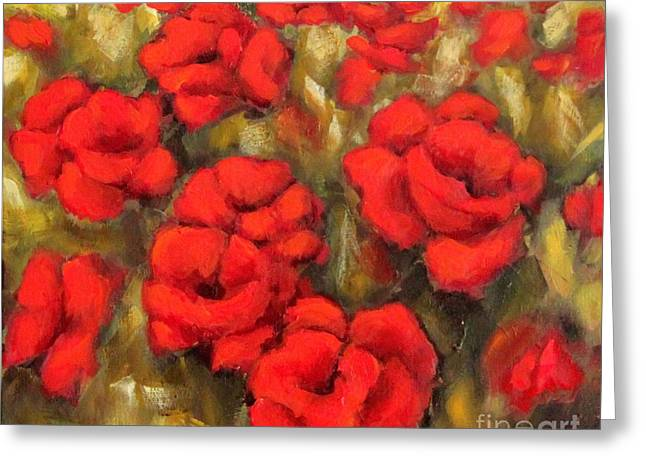 Poppies Passion Fragment Greeting Card
