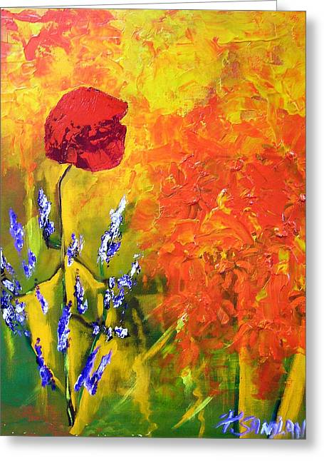 Poppies Greeting Card by Paul Sandilands