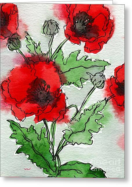 Poppies Popped Greeting Card