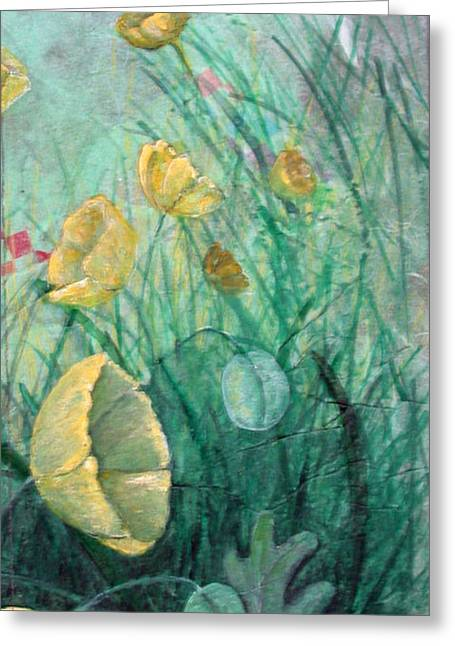Poppies Greeting Card by Sandy Clift