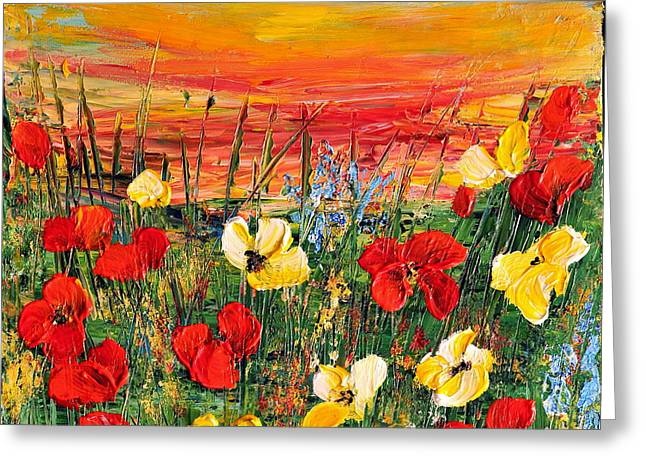 Poppies Greeting Card by Teresa Wegrzyn