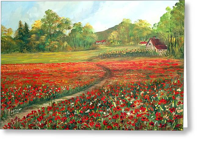 Poppies Time Greeting Card