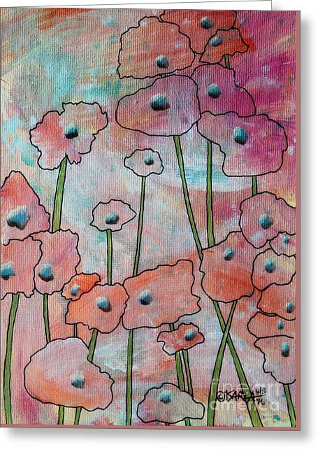 Poppies1 Greeting Card by Karla Gerard