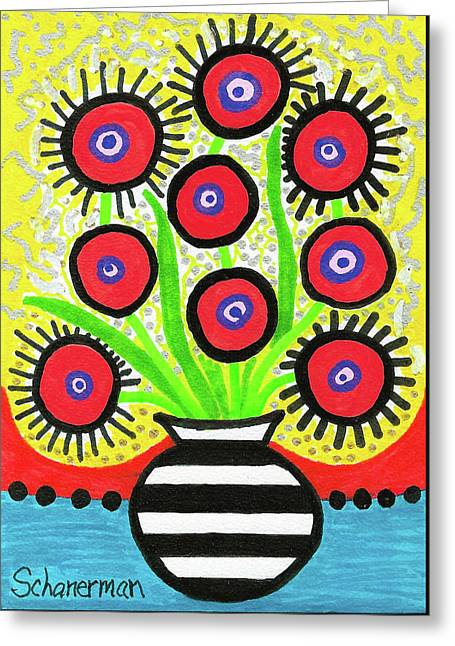Poppin' Red Poppies Greeting Card