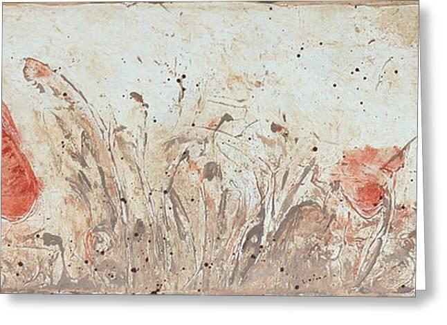 Poppy 1 Greeting Card by Aneta  Berghane