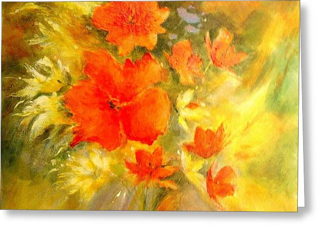 Poppy Bouquet  Greeting Card by Madeleine Holzberg