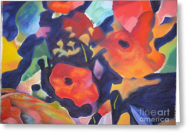 Greeting Card featuring the pastel Poppy Bouquet by Terri Thompson