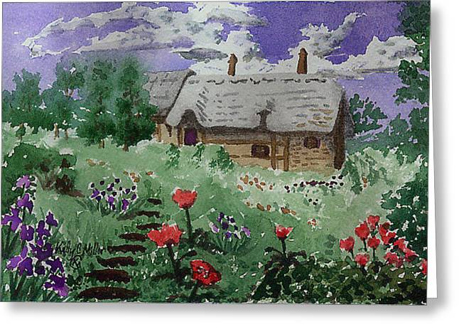 Poppy Cottage Greeting Card by Kelly Miller