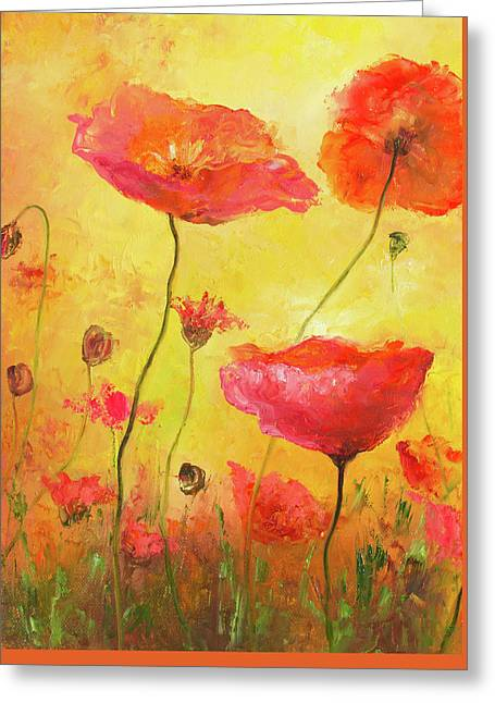 Poppy Delight Greeting Card by Jan Matson
