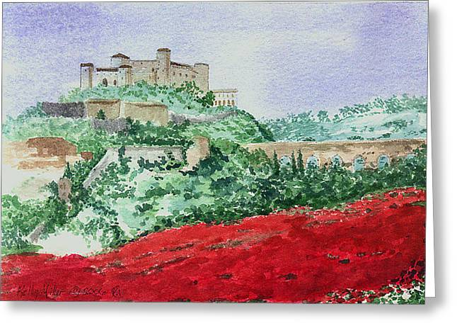 Poppy Field Greeting Card by Kelly Miller