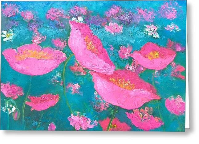 Poppy Garden By Jan Matson Greeting Card by Jan Matson