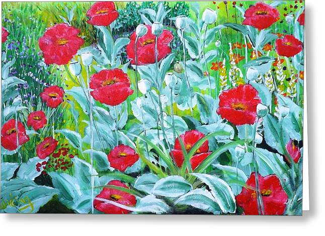 Poppy Impression Greeting Card