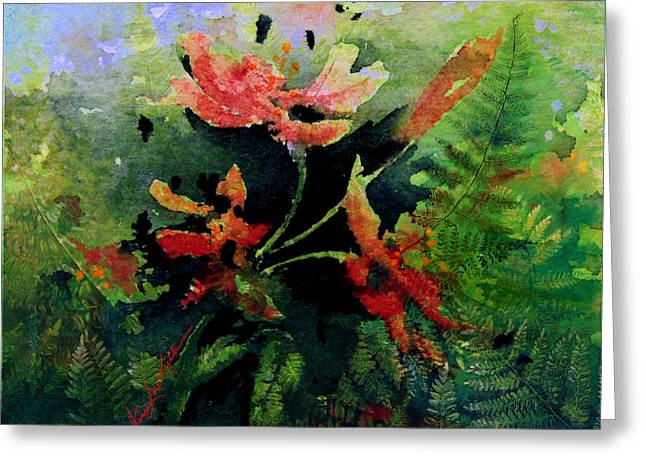 Poppy Impressions Greeting Card by Hanne Lore Koehler