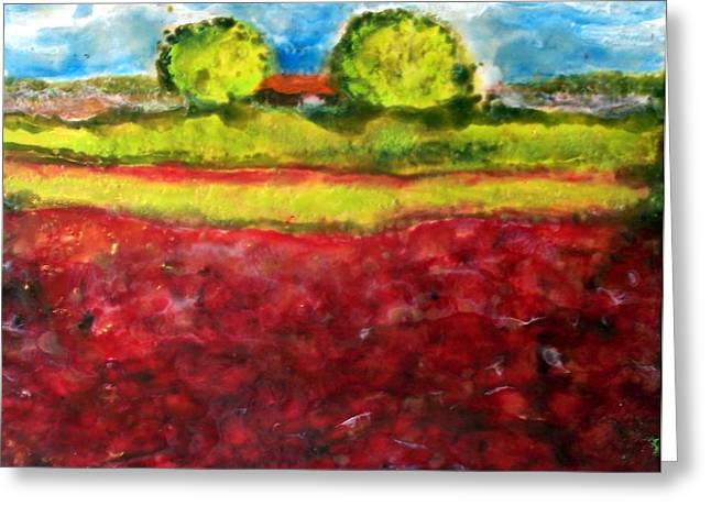 Poppy Meadow Greeting Card by Karla Phlypo-Price