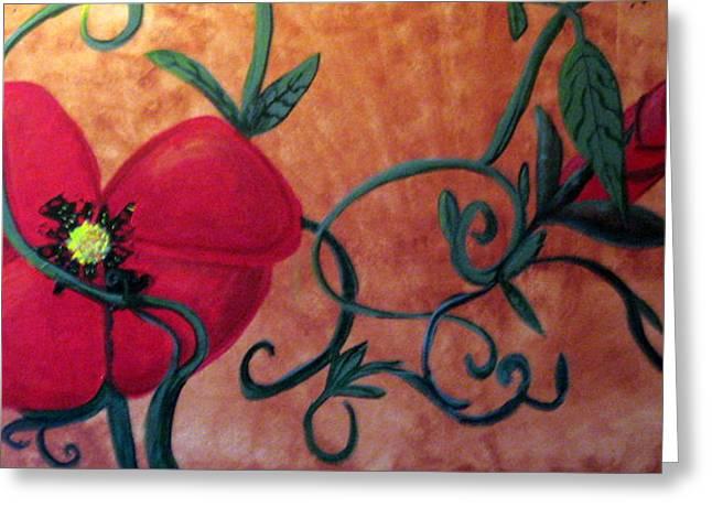 Poppy One Greeting Card by Rebecca Merola