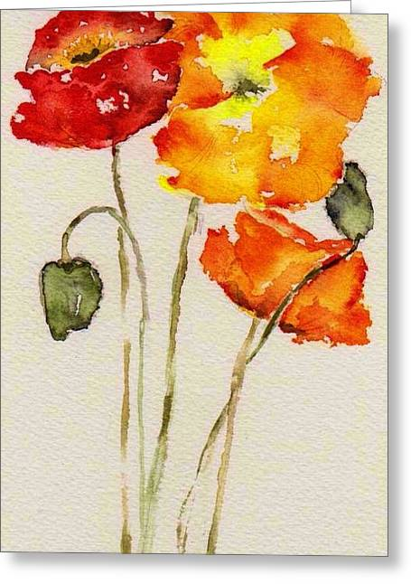 Poppy Trio Greeting Card